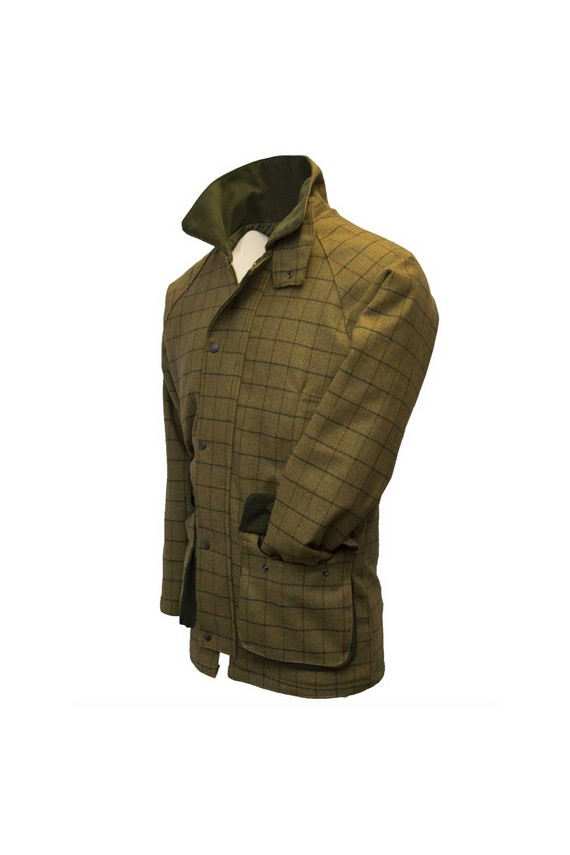 Manteau en tweed homme – Derby beige à carreaux