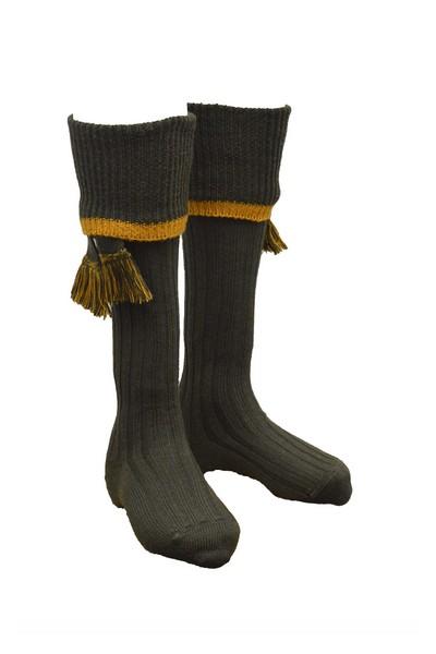 Chaussettes vertes pour knickers avec garters - Homme