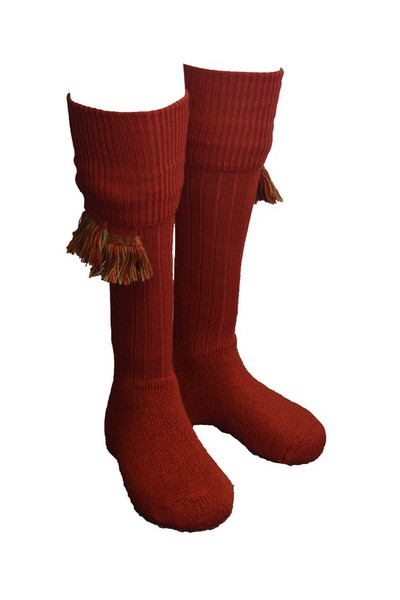 Chaussettes rouges + garters - Homme