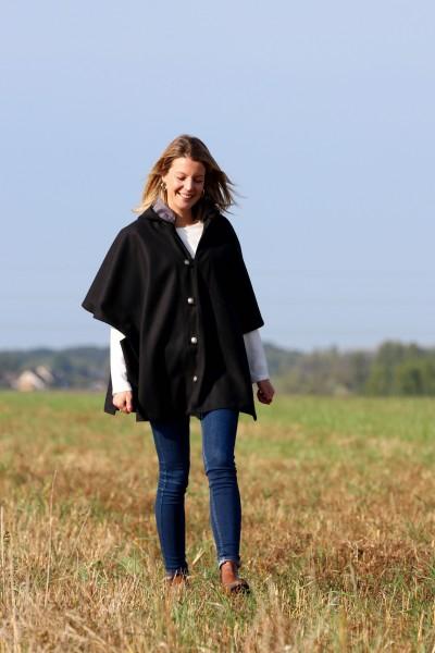 Cape Laveline CITY réversible - Tweed noir