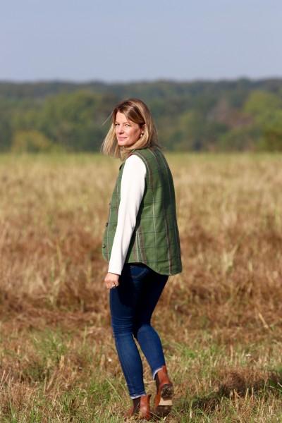 Gilet tweed Ashby - femme