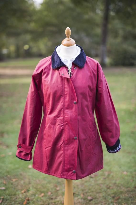 Manteau huilé - rouge