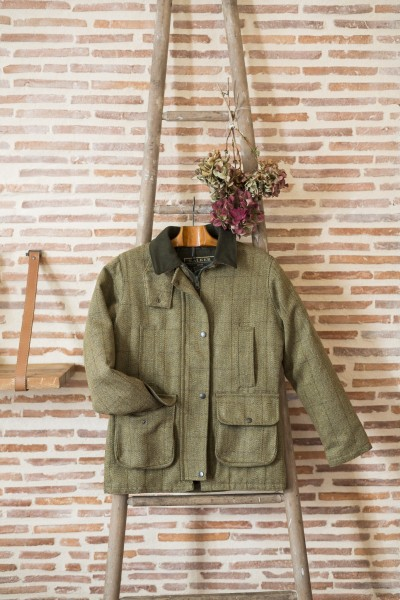 Manteau tweed clair