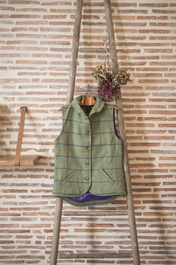 Gilet tweed -Purple
