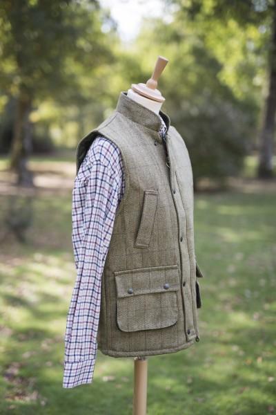 Gilet en tweed clair homme