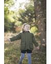 Manteau enfant en tweed - Vert foncé