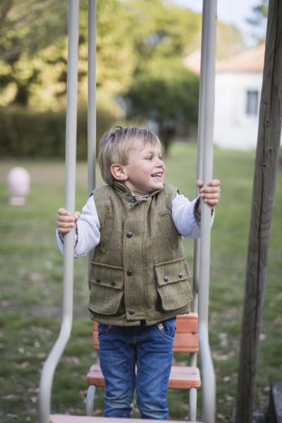 Gilet enfant en tweed