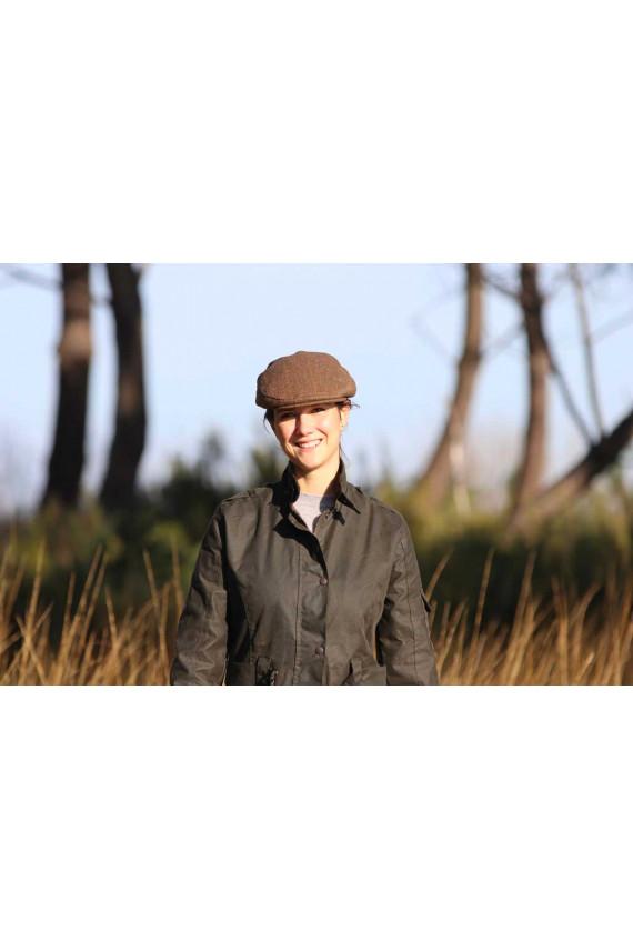 Casquette tweed marron H/F - oreillettes à rabat