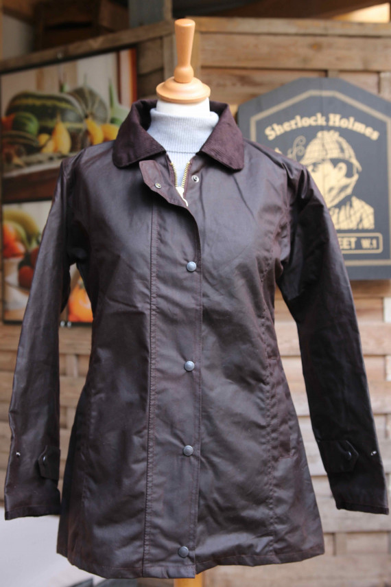 Manteau huilé femme - Marron