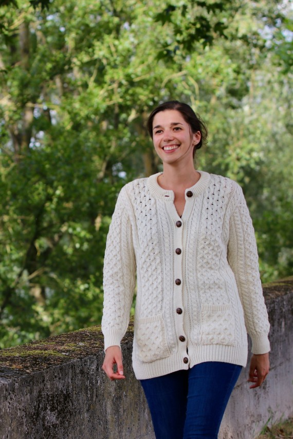 Gilet femme Curragh 100% pure laine