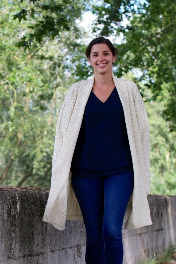 Gilet long femme Doolin 100% pure laine