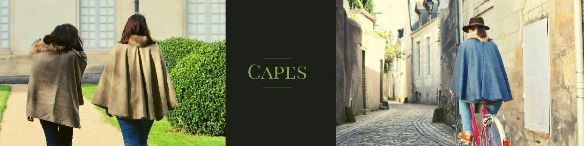 Capes en tweed made in France